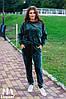 Женский велюровый костюм большого размера / велюр / Украина 7-1-473
