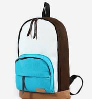 Молодежный Рюкзак! в наличии Цвет Коричневый +Голубой,Оригинал ,высококачественный,  фабричный!, фото 1