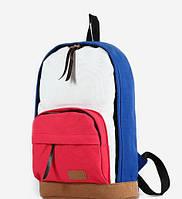 Школьный Молодежный Рюкзак! в наличии Цвет Синий +Красный,Оригинал ,высококачественный,  фабричный!