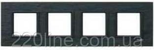 Рамка 4 поста чёрный камень Schneider Electric Unica Class