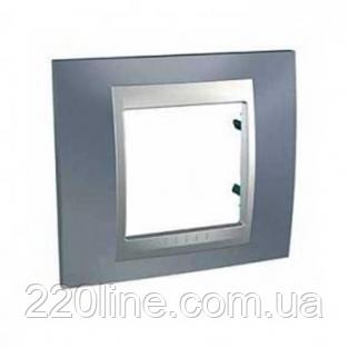 Рамка 1 пост Металлик/алюминий Schneider Electric Unica Top