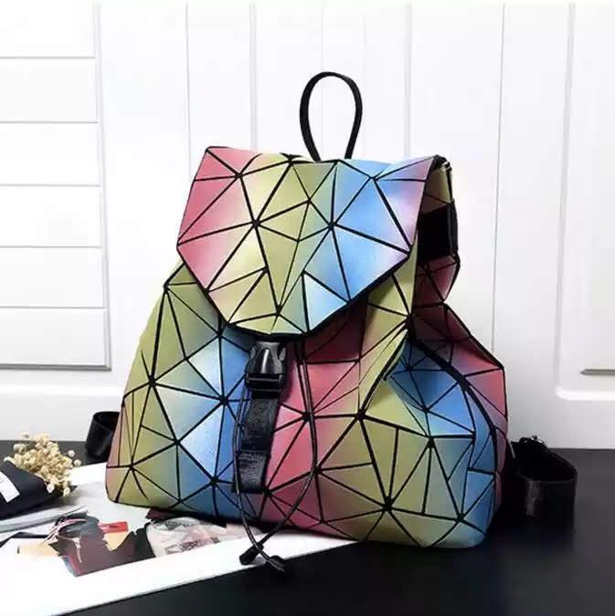 Женский рюкзак Бао Бао радужный алмазный 3006-11