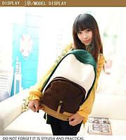Школьный  Молодежный Рюкзак! в наличии Цвет Зелёный +Коричневый ,Оригинал ,высококачественный,  фабричный!, фото 1