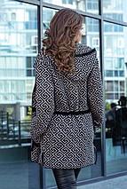 В'язаний жіночий кардиган Нона (чорний, мокко), фото 3