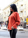 Женский вязаный свитер с рукавами - фонариками и широкими манжетами 55ddet600, фото 5