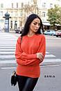 Женский вязаный свитер с рукавами - фонариками и широкими манжетами 55ddet600, фото 6