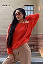 Свободный женский вязаный свитер на каждый день 55ddet602, фото 3