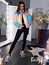 Женская цветная короткая куртка на молнии с воротником-стойкой 66kur134Е, фото 2