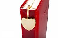 """Закладка для книг металлическая """"Сердечко - Jardin d'ete"""" золотистая, фото 1"""