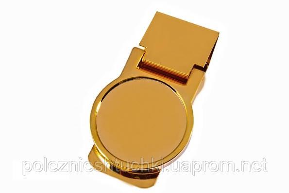 """Зажим для денег """"Медаль"""" золотистый, металлический"""