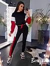 Утепленный женский спортивный костюм с укороченным худи и рукавом летучая мышь 66spt739Q, фото 2