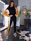 Утепленный женский спортивный костюм с укороченным худи и рукавом летучая мышь 66spt739Q, фото 4