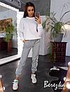 Женский теплый спортивный костюм со свитшотом и штанами на манжетах 66spt741Q, фото 3