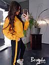 Женский теплый спортивный костюм со свитшотом и штанами на манжетах 66spt741Q, фото 5