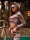 Женский спортивный костюм из люрекса хамелеон с укороченным худи 80spt742, фото 4