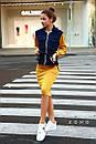 Женский юбочный костюм с джинсовым верхом и юбкой - карандаш 80kos194, фото 2