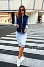 Женский юбочный костюм с джинсовым верхом и юбкой - карандаш 80kos194, фото 4