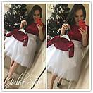 Костюм юбочный для мамы и дочки с фатиновой юбкой и велюровой кофтой 28mid56, фото 3