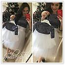 Костюм юбочный для мамы и дочки с фатиновой юбкой и велюровой кофтой 28mid56, фото 5