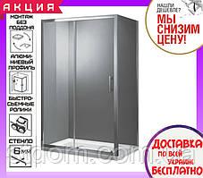 Прямоугольная душевая кабина 120x80 см Primera Frame SHRC55126 стекло прозрачное