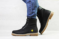 Женские зимние ботинки на меху в стиле Timberland, черные 37 (24,7 см)