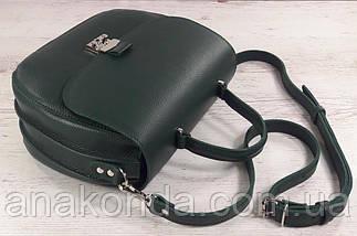584 Натуральная кожа Сумка женская зеленая Кожаная сумка зеленая кожаная сумка кожаная зеленая изумрудная, фото 2