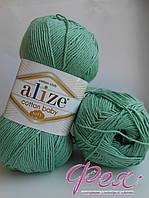 Пряжа Ализе Коттон Беби Софт №255 зелёный