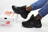 Женские зимние кроссовки на меху в стиле New balance 608, черные 36 (23 см)
