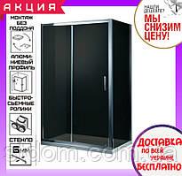Прямоугольная душевая кабина Primera Frame 120x80x190 SHRG55126 профиль хром, стекло серое