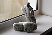 Серые кожаные кроссовки VIFESST, фото 3