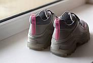 Серые кожаные кроссовки VIFESST, фото 4