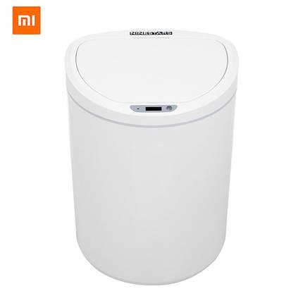 Умное мусорное ведро Xiaomi Ninestars/Becahos Sensor Trash Can DZT-10-29S (Белое, 10 л), фото 2
