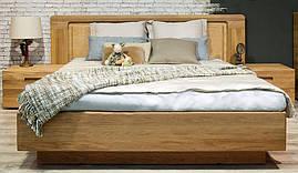 Кровать Амстердам 160х200 с изголовьем (панель массив дуба) ММЦ