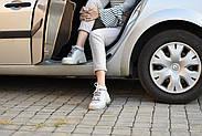 Серые кожаные кроссовки VIFESST, фото 5