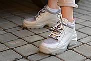 Серые кожаные кроссовки VIFESST, фото 6