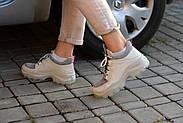 Серые кожаные кроссовки VIFESST, фото 10
