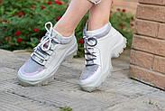 Серые кожаные кроссовки VIFESST, фото 7
