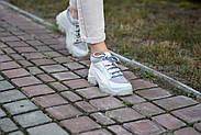 Серые кожаные кроссовки VIFESST, фото 8