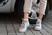 Серые кожаные кроссовки VIFESST, фото 9