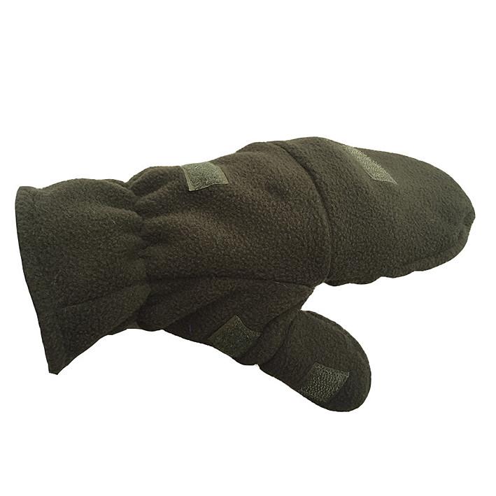 Перчатки-варежки флис «Олива»