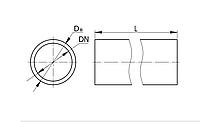 Труба ПВХ жесткая гладкая д.40мм, стандартная, 3м, серый цвет