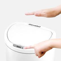 Умное мусорное ведро Xiaomi Ninestars/Becahos Sensor Trash Can DZT-10-29S (Белое, 10 л), фото 3
