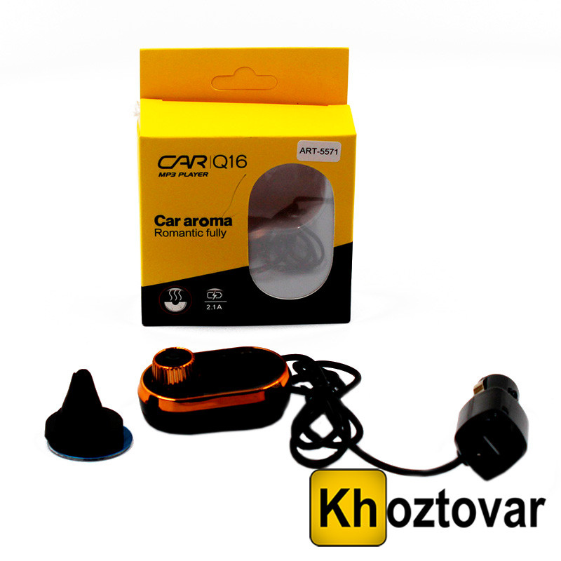 Автомобильный FM модулятор CAR Q16| Трансмиттер с ароматизатором
