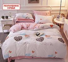 Полуторный набор постельного белья из сатина - Леопардовое сердце, компания
