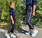 """Детские стильные брюки 751 """"Джоггеры Лампасы"""" в школьных расцветках, фото 2"""