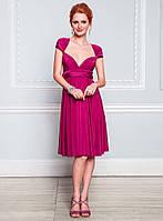 Платье сарафан фуксия