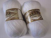 ANGORA GOLD 55 белый - 20% шерсть, 80% акрил