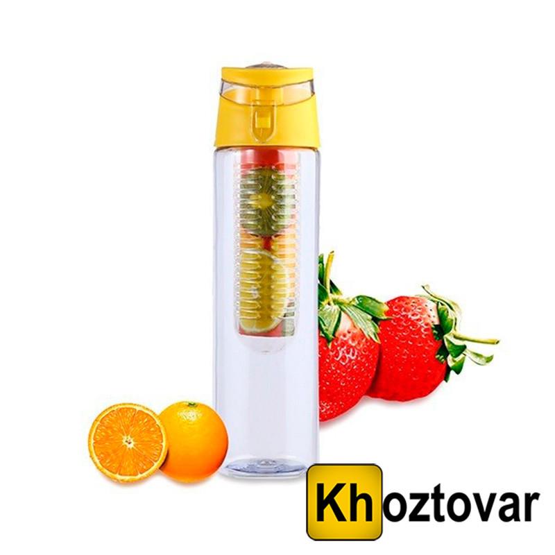 Бутылка со съемным отделом для фруктов Flash Juice Bottle