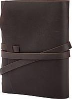 Блокнот кожаный COMFY STRAP темно-коричневый с ручкой А5 (20,5х15,0х4,0 см), фото 3