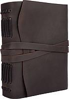 Блокнот кожаный COMFY STRAP темно-коричневый с ручкой А5 (20,5х15,0х4,0 см), фото 4